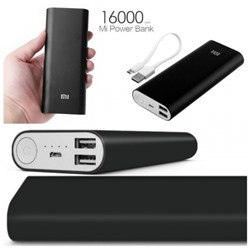 Power Bank XIAOMI, 16000 mAh Черный