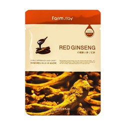 (Корея) Тканевая маска FarmStay Visible Difference Mask Sheet Red Ginseng оптом | TeeGee.ru