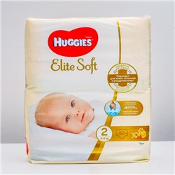 "Подгузники ""Huggies"" Elite Soft 2, 4-6кг, 82 шт"