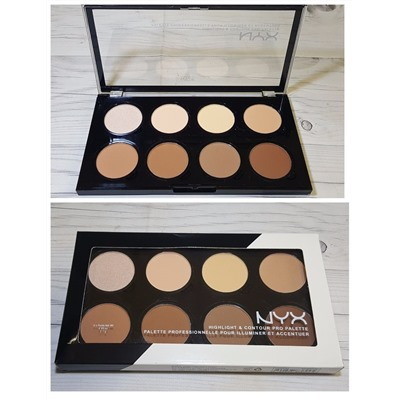 Палетка для контурирования лица Highlight & Contour Pro Palette  NX